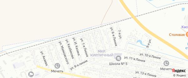 Улица Линия 4 на карте Кирпичного микрорайона с номерами домов