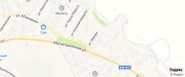 Улица Магомеда Абуева на карте села Карабудахкента с номерами домов