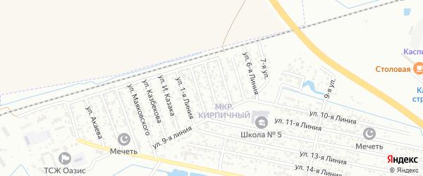 3-я линия на карте Кирпичного микрорайона с номерами домов
