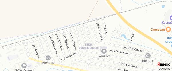 Улица Линия 5 на карте микрорайона Камнеобрабат-щий з-д и Очистные сооруж-я с номерами домов