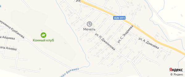 Улица Мажида Гайдарова на карте села Карабудахкента с номерами домов