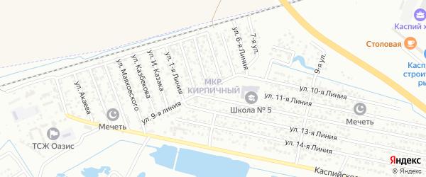 Улица Линия 13 на карте микрорайона Камнеобрабат-щий з-д и Очистные сооруж-я с номерами домов