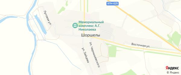 Карта села Шоршел в Чувашии с улицами и номерами домов