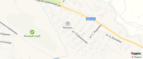 Абонентский ящик Папагаджи Джалилова на карте микрорайона Сергендираул с номерами домов