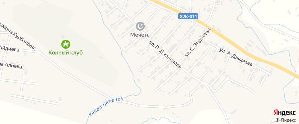 Улица С.Алиева на карте села Карабудахкента с номерами домов