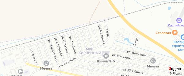 Улица Линия 7 на карте микрорайона Камнеобрабат-щий з-д и Очистные сооруж-я с номерами домов