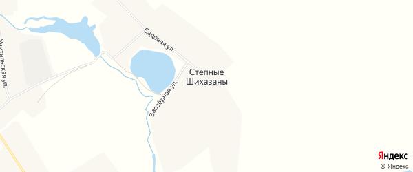 Карта деревни Степные Шихазаны в Чувашии с улицами и номерами домов