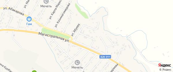 Улица Алескендера Умаева на карте микрорайона Сергендираул с номерами домов