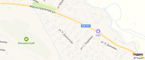 Улица Абдулгамида Устарханова на карте микрорайона Сергендираул с номерами домов