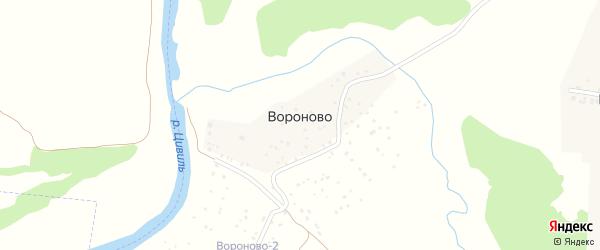 Улица Орлова на карте деревни Вороново с номерами домов