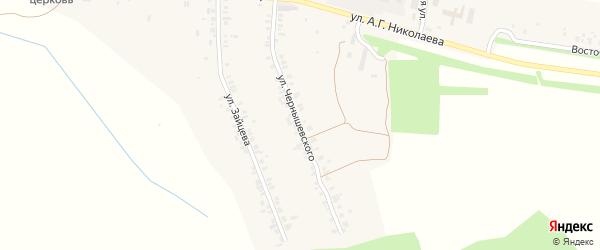 Улица Чернышевского на карте села Шоршел с номерами домов