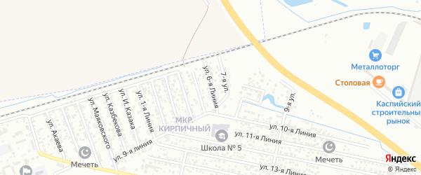 6-я линия на карте Кирпичного микрорайона с номерами домов