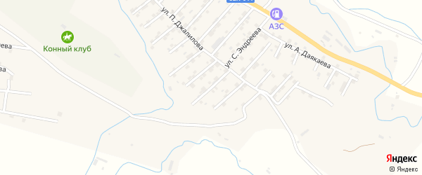 Улица Мутасима Даниялова на карте села Карабудахкента с номерами домов