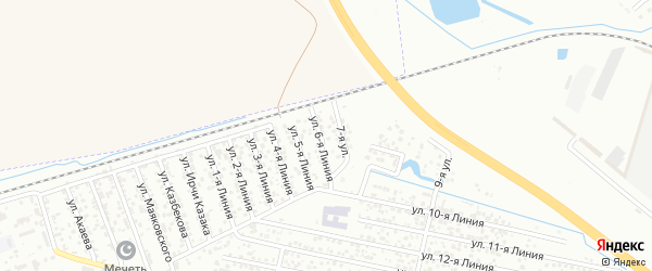 Улица Линия 3 на карте Кирпичного микрорайона с номерами домов