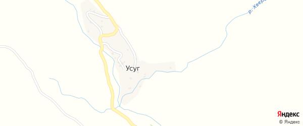 Школьная улица на карте села Усуга с номерами домов