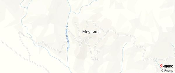 Карта села Меусиши в Дагестане с улицами и номерами домов