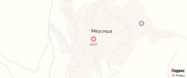 Школьная улица на карте села Меусиши с номерами домов