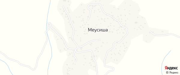 Горная улица на карте села Меусиши с номерами домов