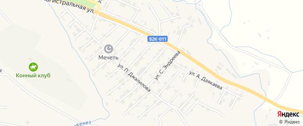 Улица Абдулгамида Казиева на карте села Карабудахкента с номерами домов