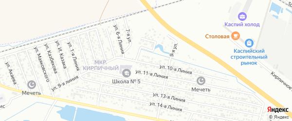 Улица Линия 2 на карте Кирпичного микрорайона с номерами домов