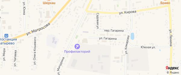 Улица Гагарина на карте села Батырево с номерами домов