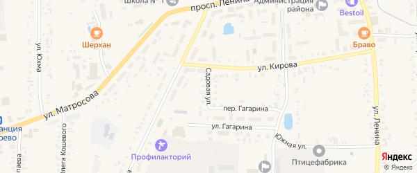 Садовая улица на карте села Батырево с номерами домов