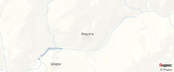 Карта села Амузг в Дагестане с улицами и номерами домов