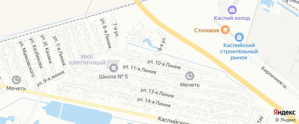 Улица Линия 9 на карте Кирпичного микрорайона с номерами домов