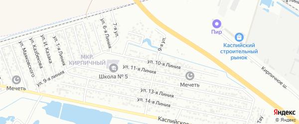 Улица Линия 9 на карте микрорайона Камнеобрабат-щий з-д и Очистные сооруж-я с номерами домов
