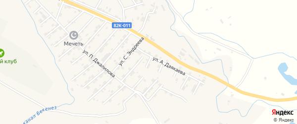 1-й тупик на карте села Карабудахкента с номерами домов