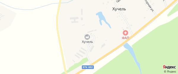 Улица Механизаторов на карте деревни Хучели с номерами домов