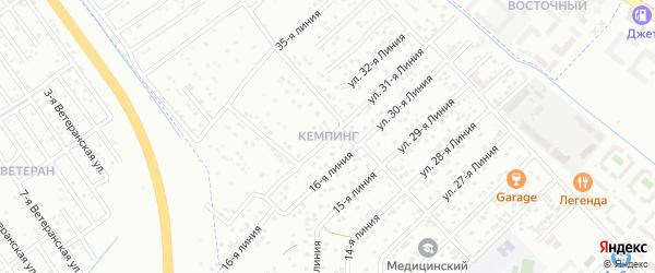 16-я линия на карте микрорайона Кемпинга с номерами домов