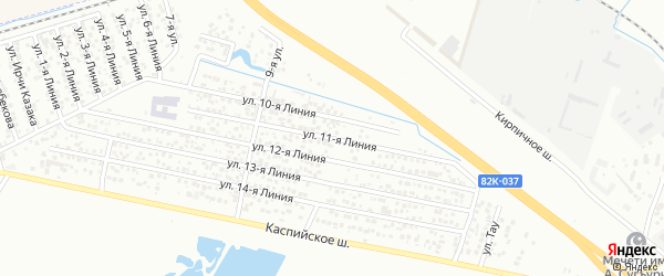 11-я линия на карте Микрорайона Камнеобрабатывающего завода с номерами домов