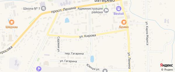Улица Кирова на карте села Батырево с номерами домов