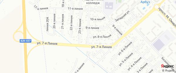 8-я линия на карте Зверовода СНТ с номерами домов