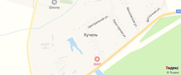 Улица 70 лет Победы на карте деревни Хучели с номерами домов
