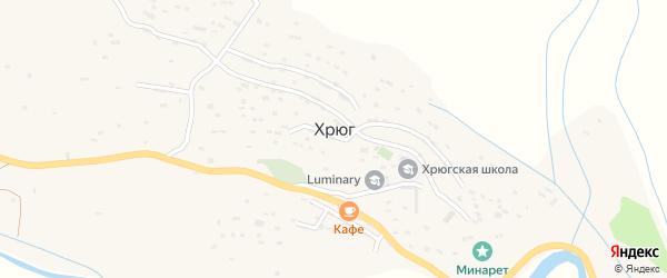 Улица Мамеда Гаджиева на карте села Хрюга с номерами домов