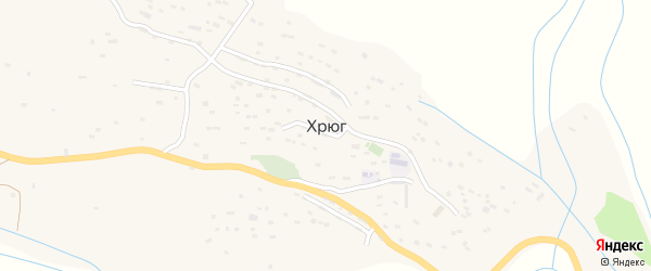 Улица Тагира хрюгского на карте села Хрюга с номерами домов