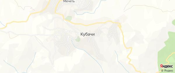 Карта поселка Кубачей в Дагестане с улицами и номерами домов