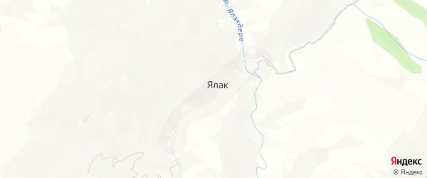 Карта села Ялака в Дагестане с улицами и номерами домов