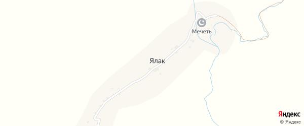 Улица Гаджи Ибрагима Эфенди на карте села Ялака с номерами домов