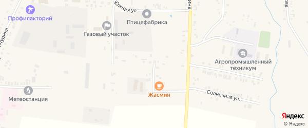 Южная улица на карте села Батырево с номерами домов