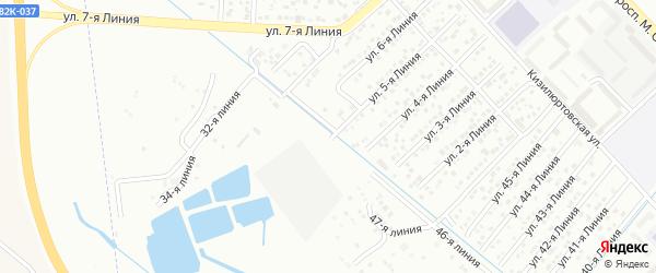 5-я линия на карте района Озера Турали и Аэропортовское шоссе с номерами домов