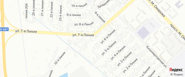 7-я линия на карте микрорайона Кемпинга с номерами домов