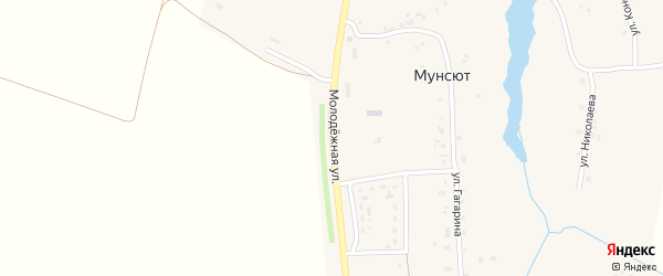 Молодежная улица на карте деревни Мунсюта с номерами домов