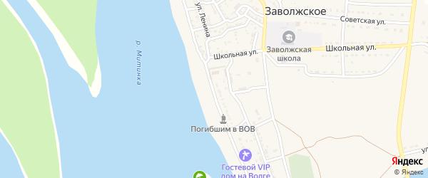 Улица Ленина на карте Заволжского села с номерами домов