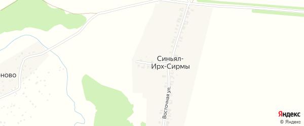 Овражная улица на карте деревни Синъял-Ирх-Сирмы с номерами домов