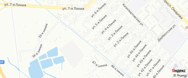 4-я линия на карте гаражно-строительного кооператива Сигнала ПГСК с номерами домов