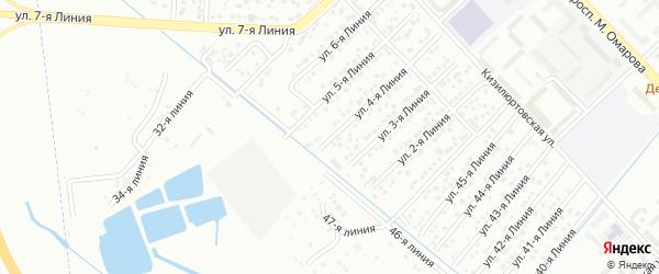 4-я линия на карте Микрорайона Камнеобрабатывающего завода с номерами домов