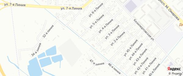 4-я линия на карте Зверовода СНТ с номерами домов